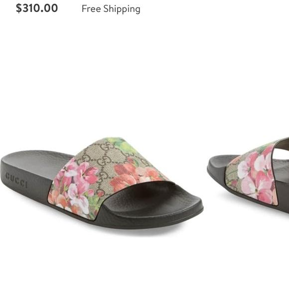 17094aa08e06 Gucci Shoes - Women s Floral Gucci Sandal